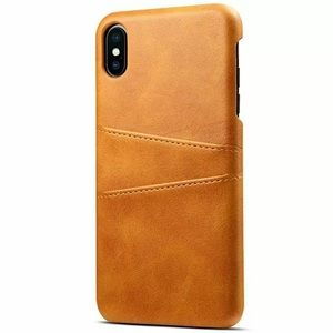 Light Brown iPhone Leather Wallet Case